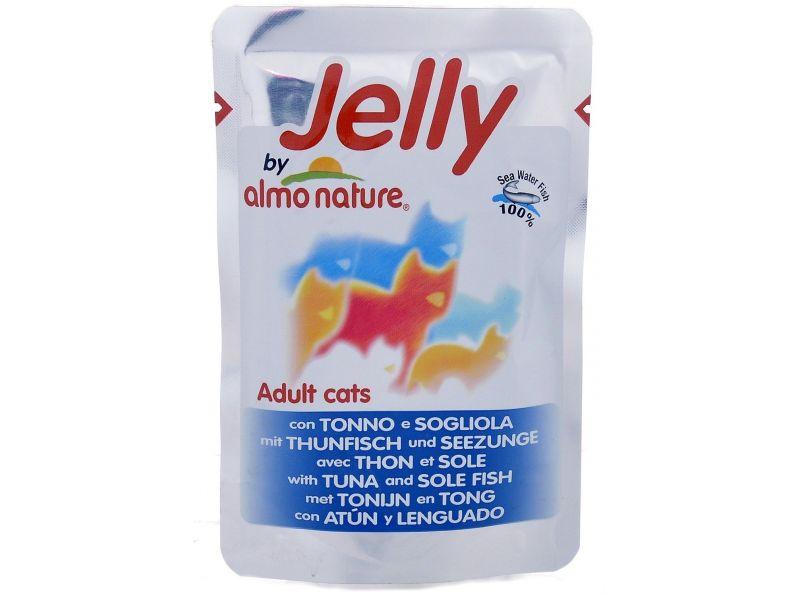 Паучи Almo Nature ТУНЕЦ и КАМБАЛА в желе, для кошек (Jelly Cat Tuna&Sole), 70 г - Фото