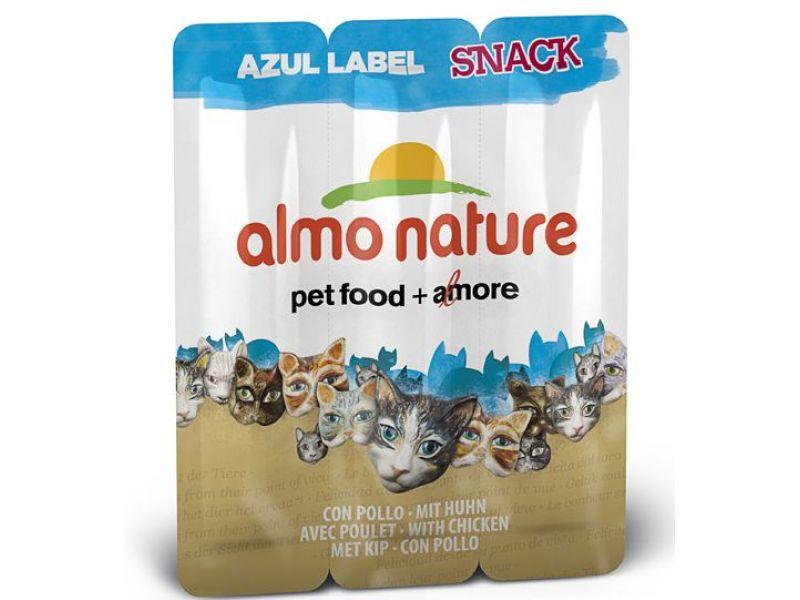 "Almo Nature Колбаски для кошек ""Курица"", 3шт. (Azul Label Snack Cat Chicken), 15 гр   - Фото"