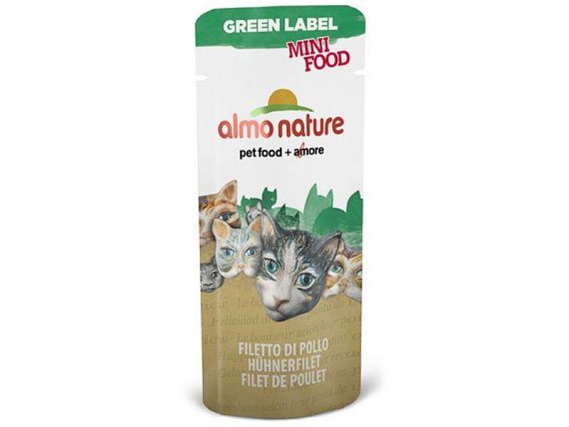 "Almo Nature Лакомство для кошек ""Куриное филе"", 99% мяса (Green Label Mini Food Chicken Fillet), 3 гр - Фото"