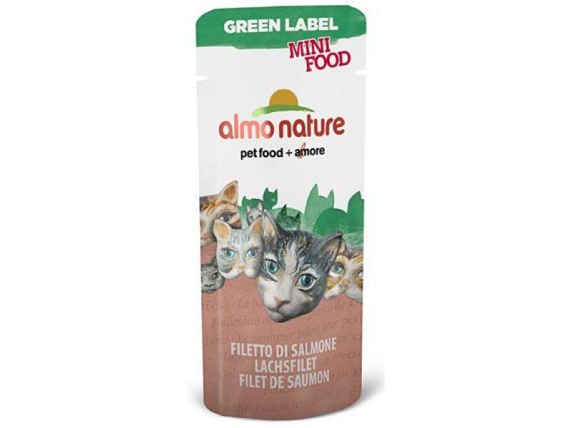 "Almo Nature Лакомство для кошек ""Филе Лосося"", 99% мяса (Green Label Mini Food Salmon Fillet), 3 гр  - Фото"