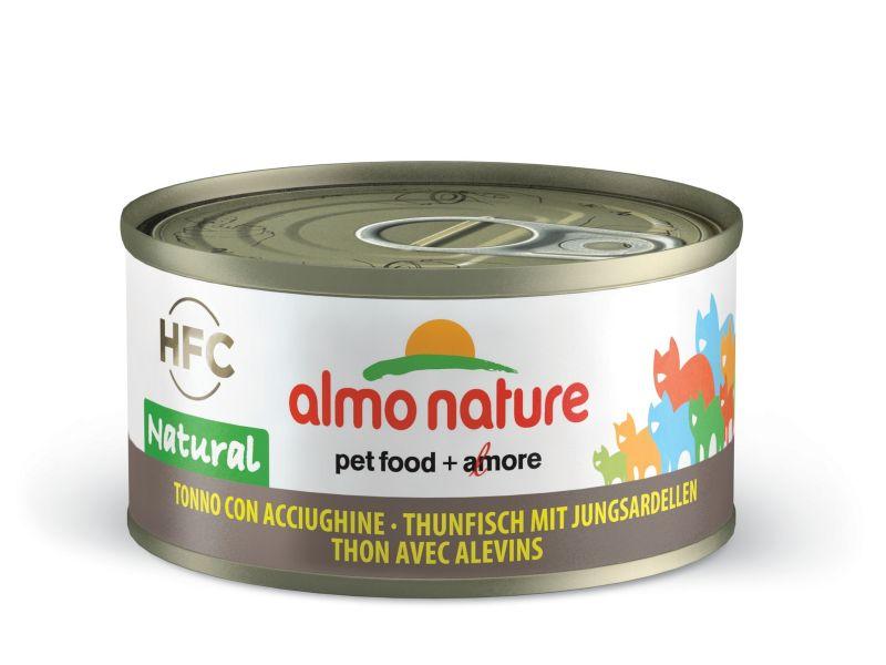 Консервы Almo Nature с ТУНЦОМ и САРДИНКАМИ 75% для кошек (Legend Adult Cat Tuna&White Bait), 70 гр - Фото