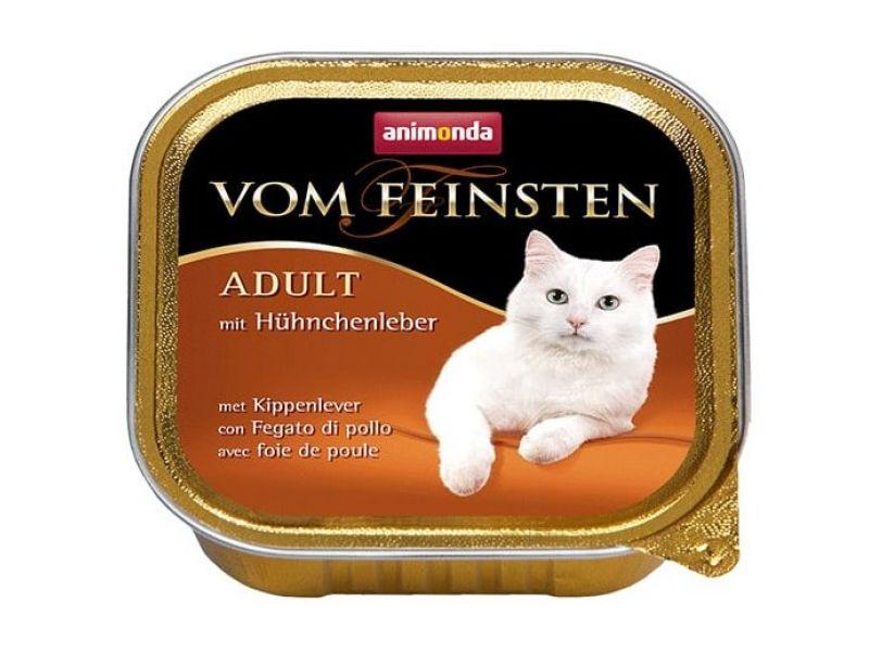 Animonda Влажный корм (консервы) с КУРИНОЙ ПЕЧЕНЬЮ для кошек (Vom Feinsten), 100 г  - Фото