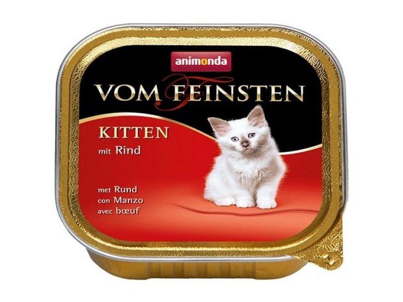 Animonda Влажный корм (консервы) с ГОВЯДИНОЙ для КОТЯТ (Vom Feinsten Kitten), 100 г - Фото
