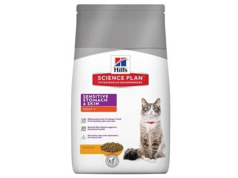 Сухой корм Hill's Science Plan™  с ИНДЕЙКОЙ и КУРИЦЕЙ для кошек с ЧУВСТВИТЕЛЬНОЙ КОЖЕЙ (Sensitive Skin) - Фото