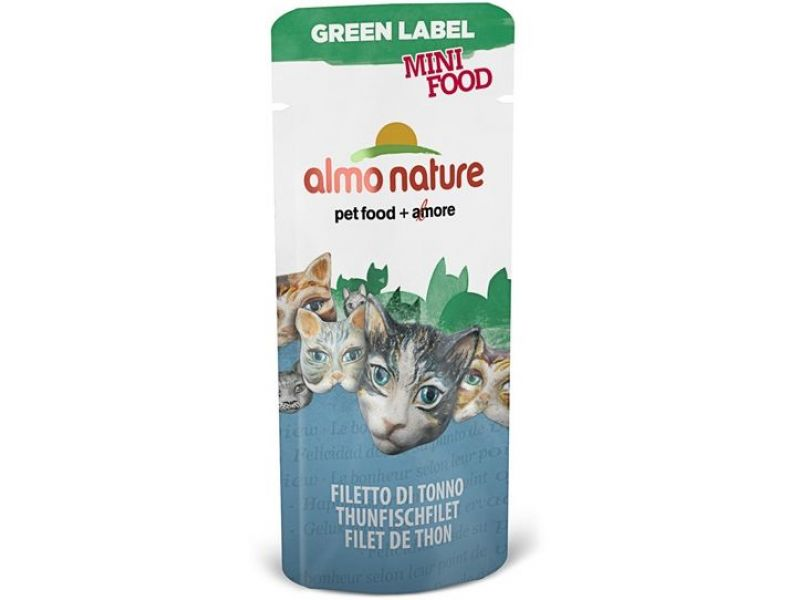 "Almo Nature Лакомство для кошек ""Филе Тунца"", 99% мяса (Green Label Mini Food Tuna Fillet), 3 гр   - Фото"