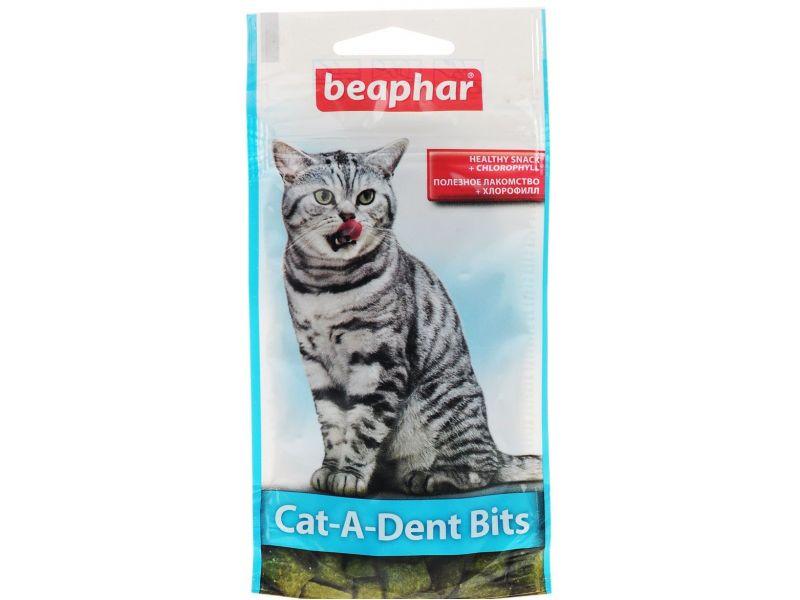 Beaphar Cat-a-Dent Bits Подушечки для чистки зубов кошек, 35 гр - Фото