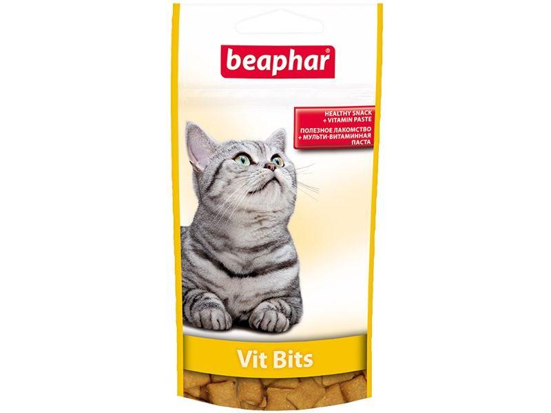 Beaphar Vit Bits Лакомство с витаминной пастой для кошек - Фото