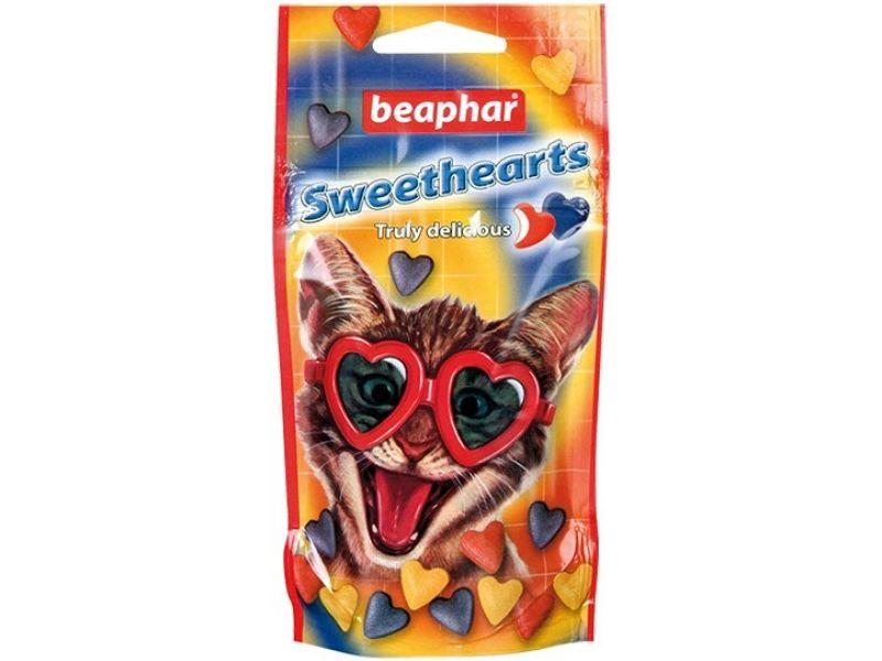 "Beaphar SweetHearts Лакомство ""Сердечки"", для кошек, 150 шт, 70 гр - Фото"