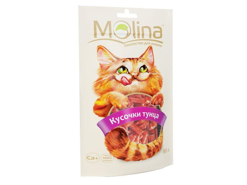 "Molina Лакомство ""КУСОЧКИ ТУНЦА"", для кошек (0634), 80 гр   - Фото"