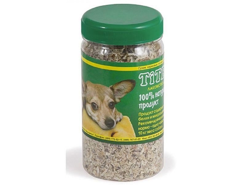 TiTBiT РУБЕЦ ГОВЯЖИЙ молотый (пластиковая банка), для собак, 0,35 л - Фото