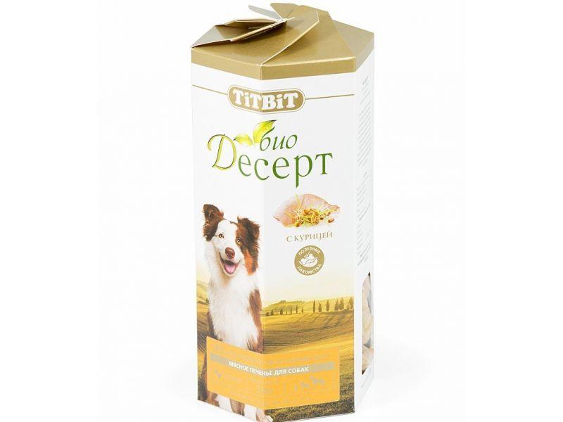 TiTBiT ПЕЧЕНЬЕ Био-Десерт с КУРИЦЕЙ стандарт, для собак, 350 гр  - Фото