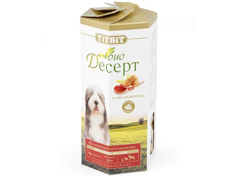 TiTBiT ПЕЧЕНЬЕ Био-Десерт с мясом ЯГНЕНКА стандарт, для собак, 350 гр  - Фото