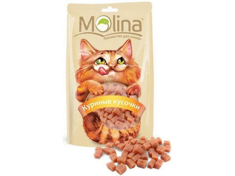 "Molina Лакомство ""КУРИНЫЕ КУСОЧКИ"", для кошек (61961), 80 гр   - Фото"