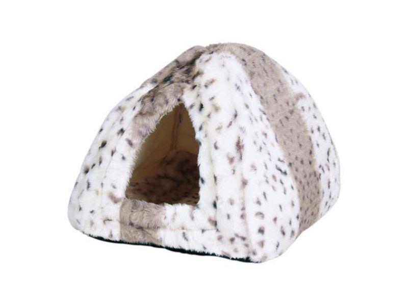 "Trixie Мягкий домик ""Leila"", для животных, мех, белый/бежевый (3714), 40*40*30 см   - Фото"