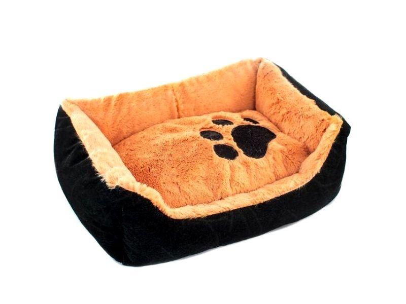 Yami-Yami Лежак прямоугольный, пухлый, рыжий с подушкой, синтепух - Фото