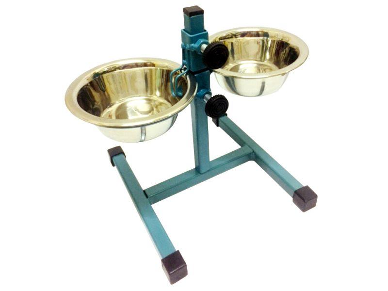 Данко Кормушка - телескоп разборная регулируемая, для собак, МОРСКАЯ ВОЛНА, h=20 см   - Фото