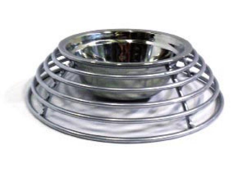 Данко Подставка с миской напольная, кольцевая для животных, 500 мл, D 16 см  - Фото