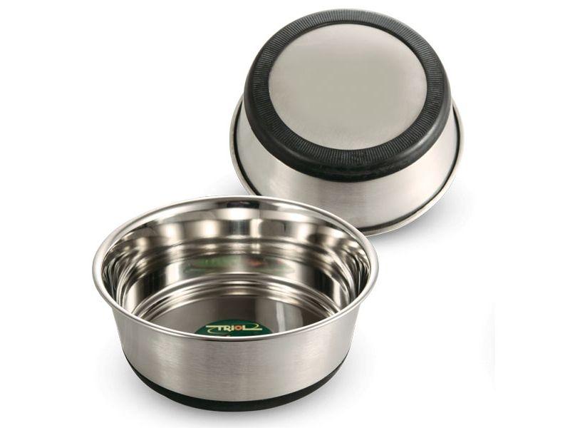 Triol Миска металлическая, утяжеленная, на резиновой основе, для животных - Фото