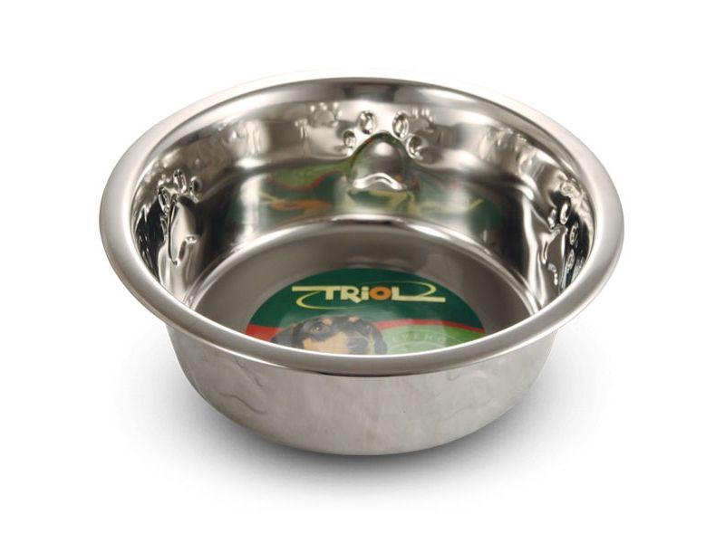 Triol Миска металлическая с тиснением, для животных - Фото