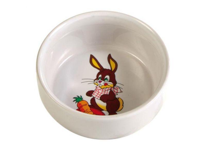 Trixie Миска керамическая для кроликов (6063), диаметр 11 см, 300 мл  - Фото