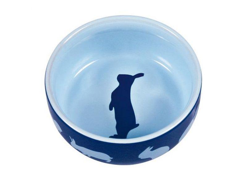 Trixie Миска керамическая для кроликов (60733), диаметр 11 см, 250 мл   - Фото