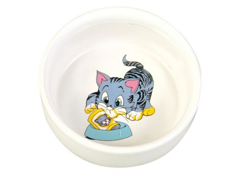Trixie Миска керамическая для кошек (4009), 11 см, 300 мл - Фото