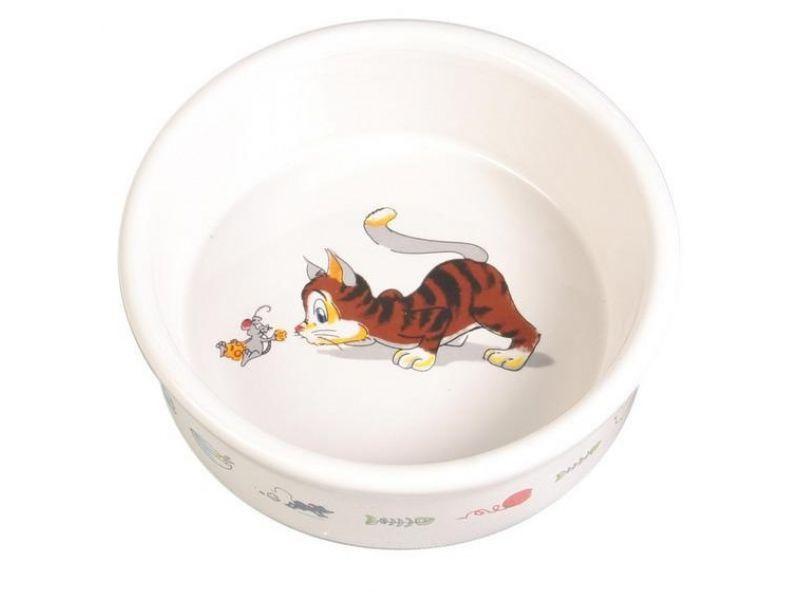Trixie Миска керамическая для кошек (4007), 11,5 см, 200 мл - Фото