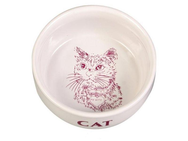 Trixie Миска керамическая для кошек (4010), 11 см, 300 мл  - Фото