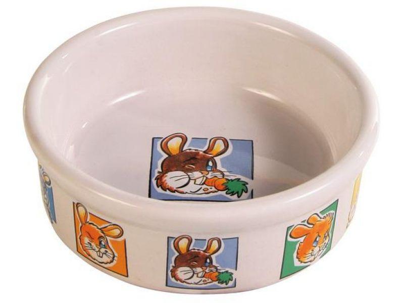 Trixie Миска керамическая для кроликов (62953), диаметр 11 см, 240 мл    - Фото