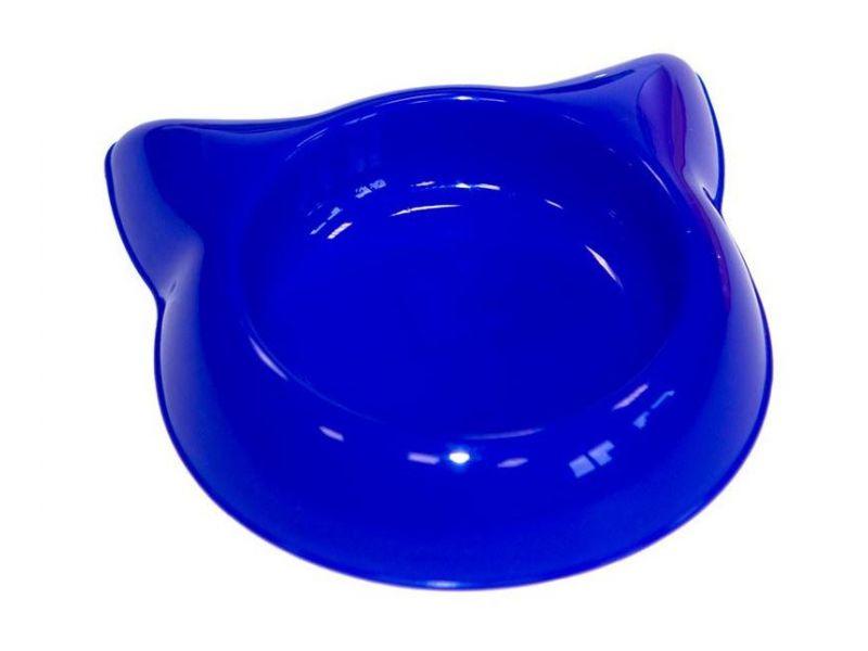 "Yami-Yami Миска пластиковая ""Кошка"", для кошек и котят, 16 см, 250 мл - Фото"