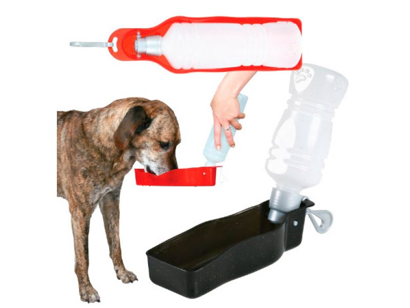 Trixie Бутылка дорожная для воды, пластик, для животных (2462/2459) - Фото