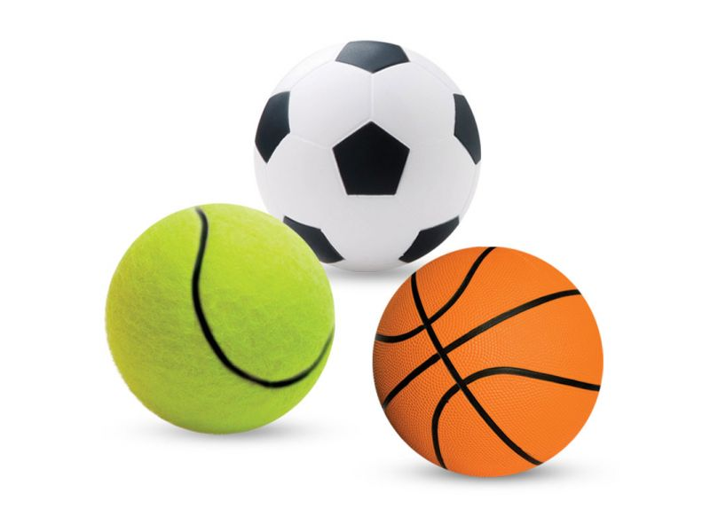 """Triol Набор """"Спортивные мячики"""", для животных, резина, 4 см, 3 шт.   - Фото"""