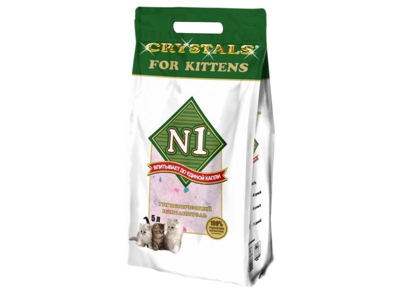 Наполнитель N1 СИЛИКАГЕЛЕВЫЙ для КОТЯТ (Crystals for Kittens), 2 кг - Фото