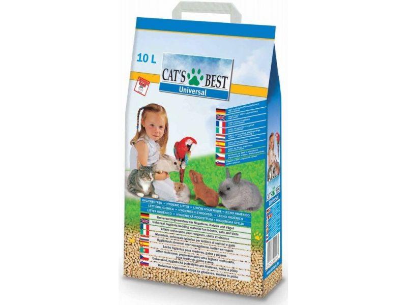 Впитывающий наполнитель Cat's Best древесный для кошек и грызунов Universal, 5,5 кг - Фото