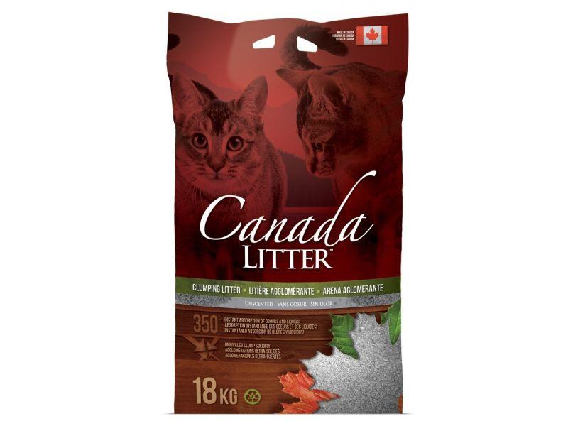 """Canada Litter Наполнитель КОМКУЮЩИЙСЯ """"Запах на замке"""", БЕЗ ЗАПАХА (Scoopable Litter), 12 кг - Фото"""