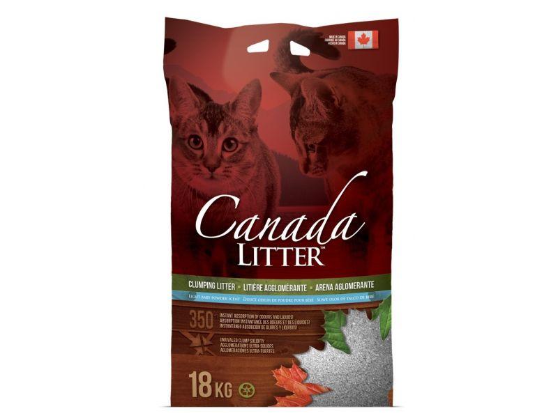 "Наполнитель Canada Litter КОМКУЮЩИЙСЯ ""Запах на замке"", АРОМАТ ДЕТСКОЙ ПРИСЫПКИ (Scoopable Litter) - Фото"