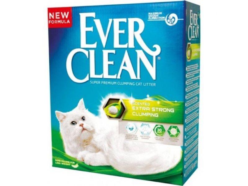 Ever Clean Комкующийся наполнитель с ароматом, зеленая полоса, 10 кг - Фото