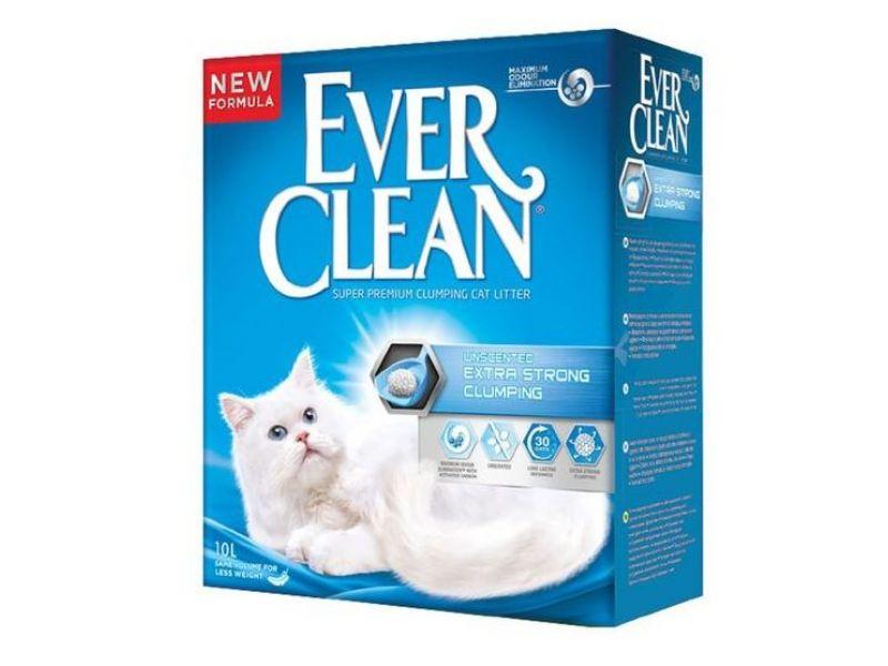 Ever Clean Комкующийся наполнитель без аромата (Extra Strength), синяя полоса - Фото
