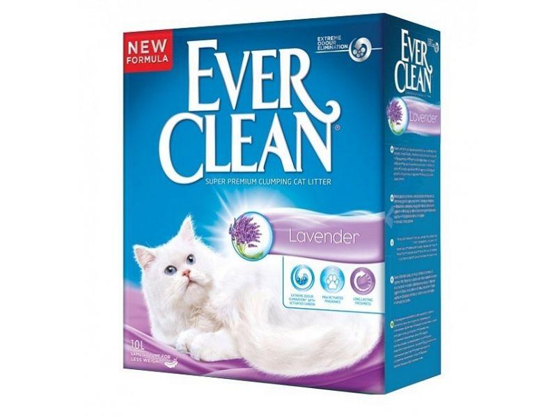 Ever Clean Комкующийся наполнитель с ароматом Лаванды (Lavander) - Фото