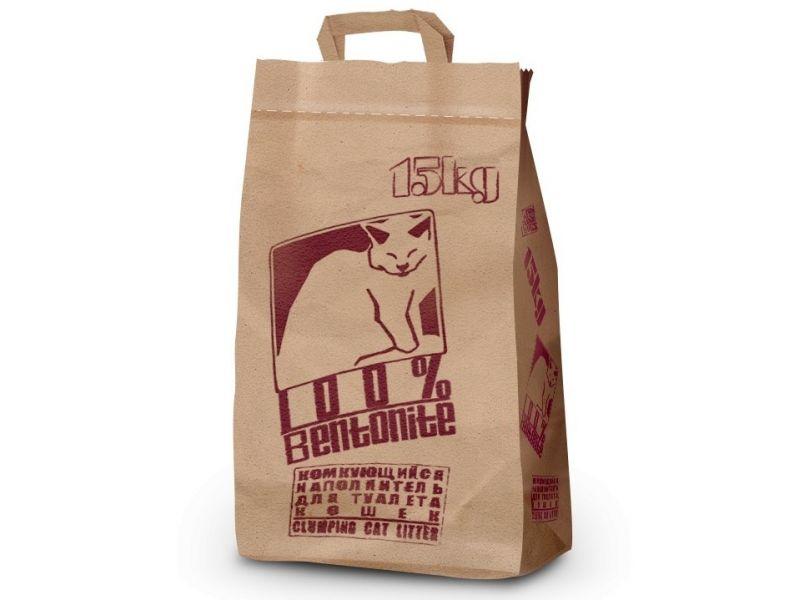 PI-PI-BENT Комкующийся наполнитель для кошек, бумажный пакет, 15 кг - Фото