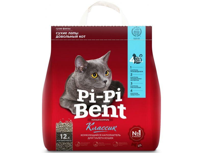 PI-PI-BENT Комкующийся наполнитель для кошек (Classic), ПАКЕТ - Фото