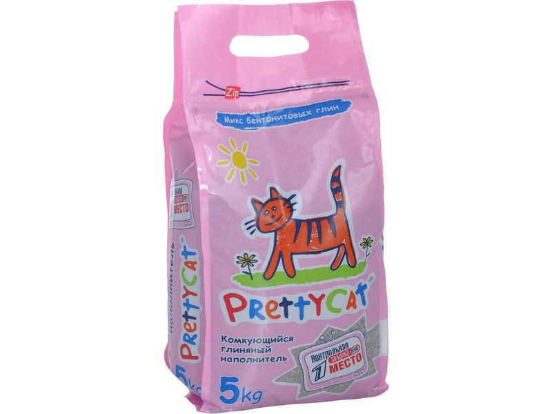 Наполнитель Pretty Cat КОМКУЮЩИЙСЯ для кошачьего туалета (Euro Mix Double Effect) - Фото