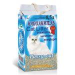 ТОВАР ДНЯ!!! Наполнитель Pussy-Cat ВПИТЫВАЮЩИЙ, цеолитовый, синий пакет, 2 кг на 4,5 л