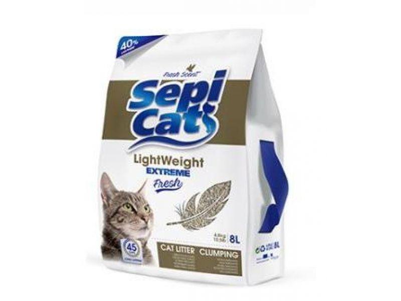 """Акция!!! Sepiolsa Наполнитель облегченный комкующийся """"Экстра Детская присыпка"""", для кошек, 9,6 кг - Фото"""