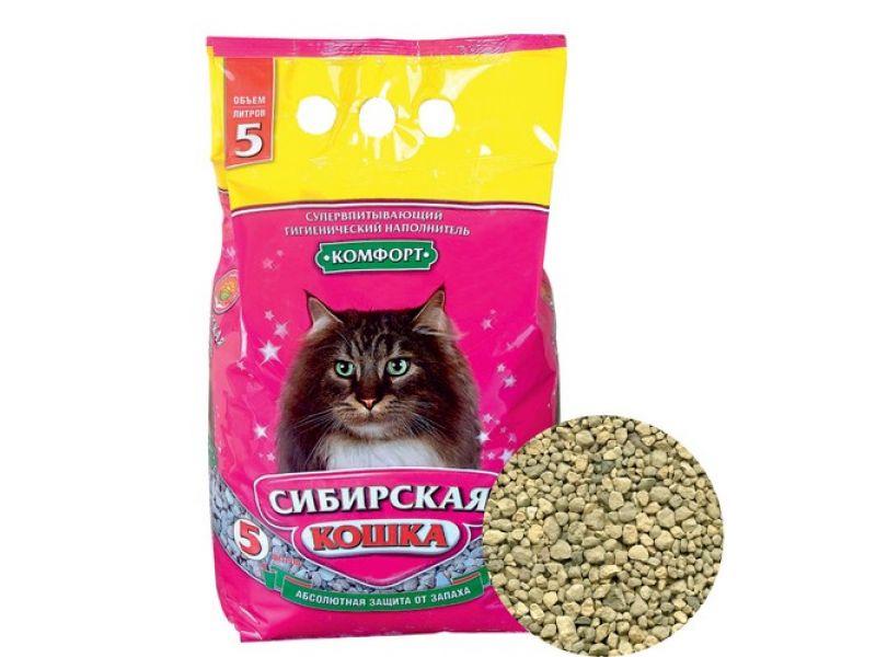 Наполнитель Сибирская кошка впитывающий КОМФОРТ - Фото