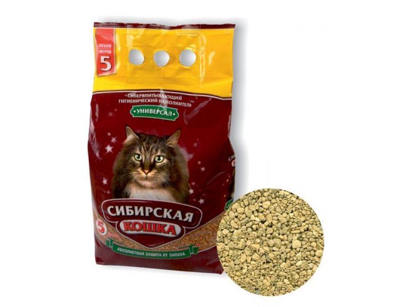 Наполнитель Сибирская кошка впитывающий УНИВЕРСАЛ - Фото