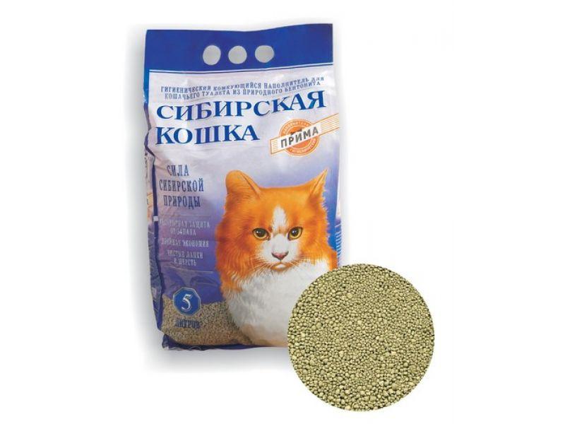 Наполнитель Сибирская кошка комкующийся ПРИМА, 5 кг - Фото