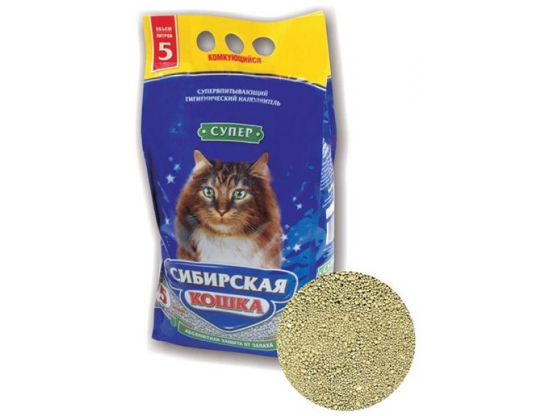Наполнитель Сибирская кошка комкующийся СУПЕР  - Фото