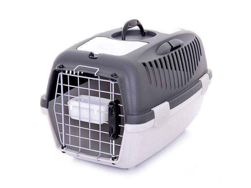 Stefanplast Переноска для АВИАПЕРЕВОЗОК собак и кошек (до 8 кг) Gulliver 2 Delux, 55*36*35см с миской и металлической дверцей - Фото