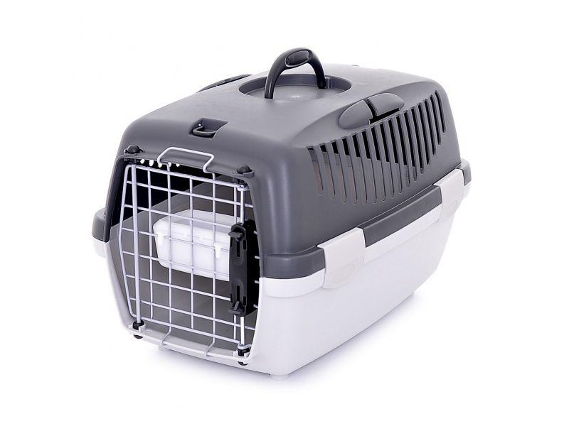 Stefanplast Переноска для АВИАПЕРЕВОЗОК для собак и кошек (до 5 кг) Gulliver 1 Delux, 48*32*31 см с миской и металлической дверцей - Фото